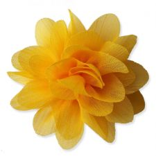 7cm Lily YELLOW Fabric Flower Applique